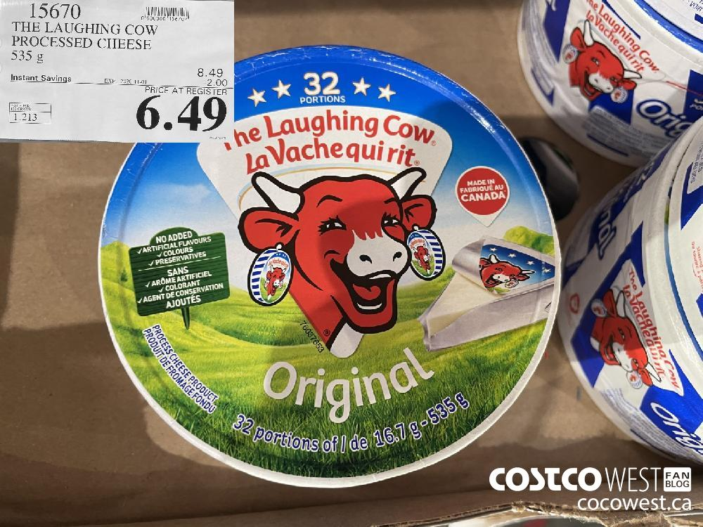 15670 THE LAUGHING COW PROCESSED CHEESE 535 g EXP. 2020-11-01 $6.49