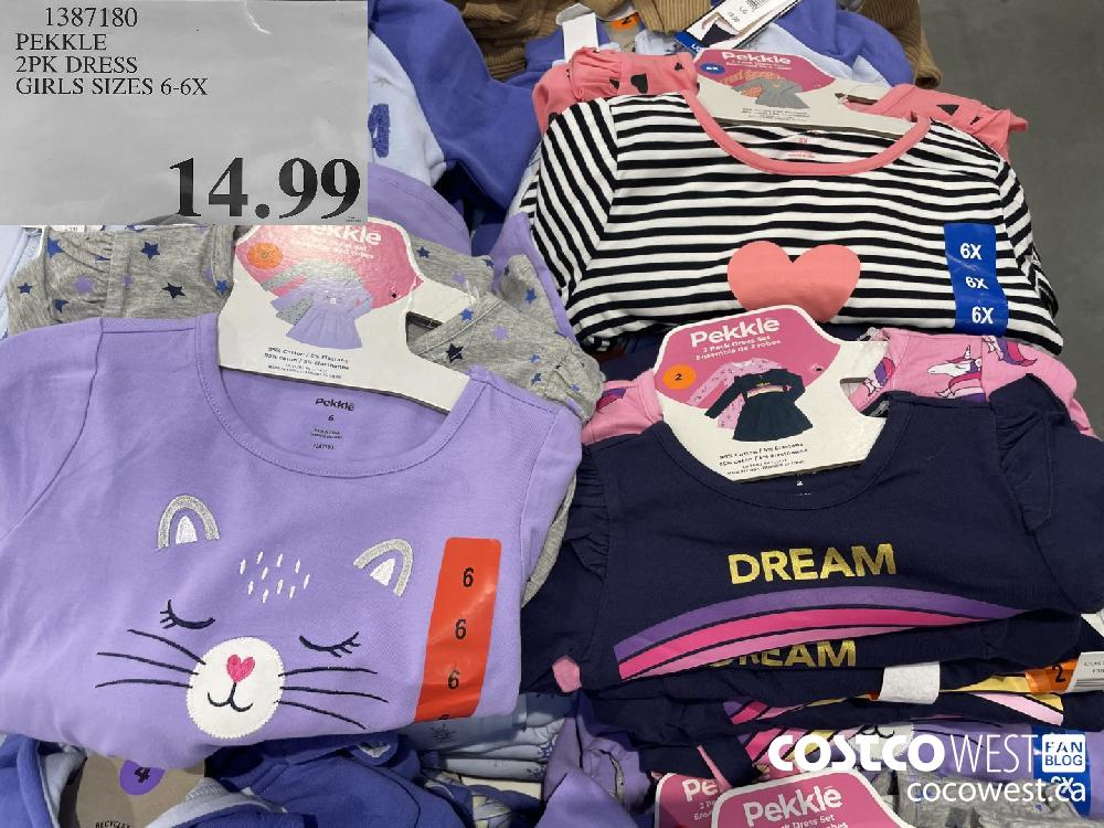 1387180 PEKKLE 2PK DRESS GIRLS SIZES 6-6X $14.99