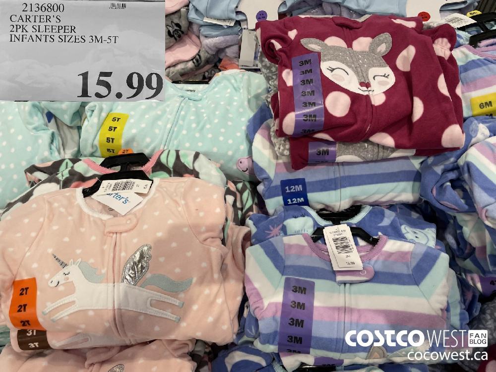 2136800 CARTER'S 2PK SLEEPER INFANTS SIZES 3M-5T $15.99