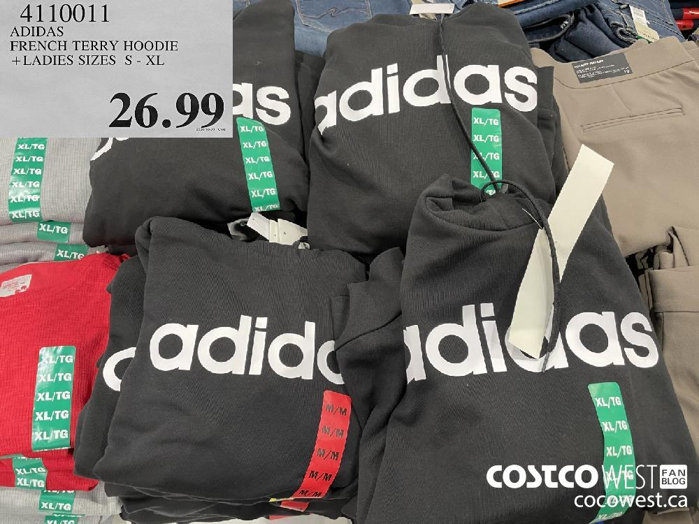 4110011 ADIDAS FRENCH TERRY HOODIE LADIES SIZES S - XL $26.99