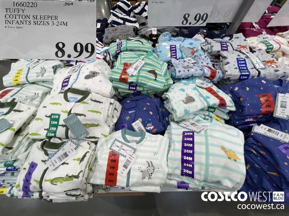 1660220 TUFFY COTTON SLEEPER INFANTS SIZES 3-24M $8.99