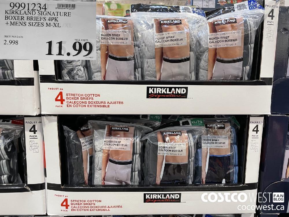 9991234 KIRKLAND SIGNATURE _ BOXER BRIEFS 4PK MENS SIZES M-XL $11.99