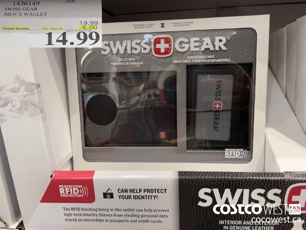 1436149 SWISS GEAR MEN'S WALLET EXP. 2020-11-08 $14.99