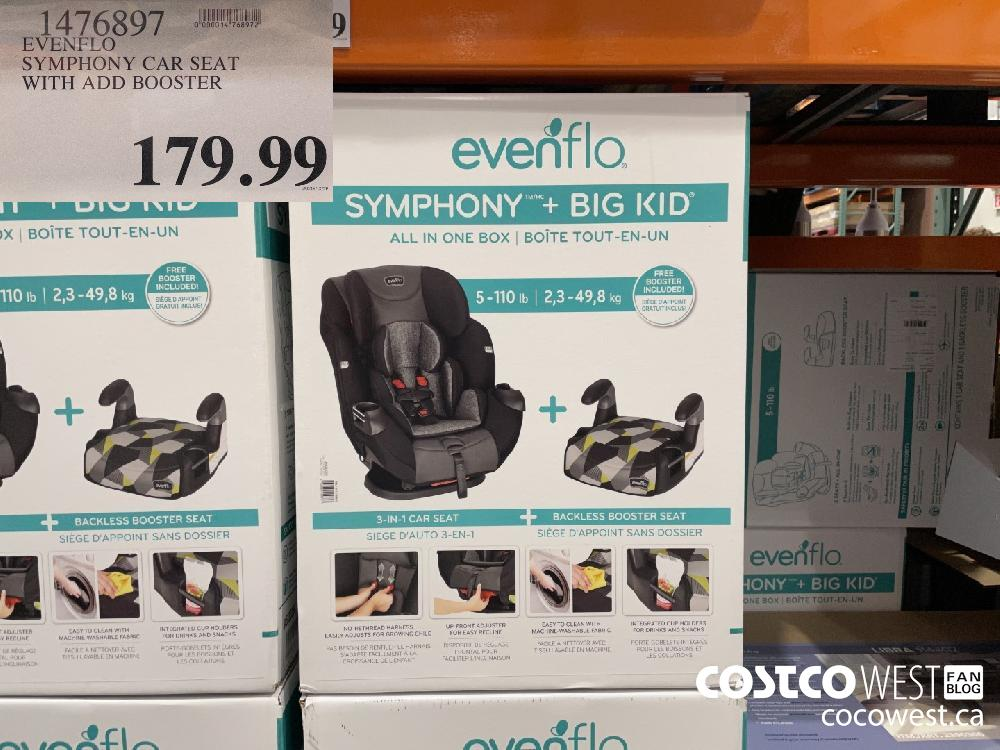 1476897 EVENFLO SYMPHONY CAR SEAT WITH ADD BOOSTER $179.99