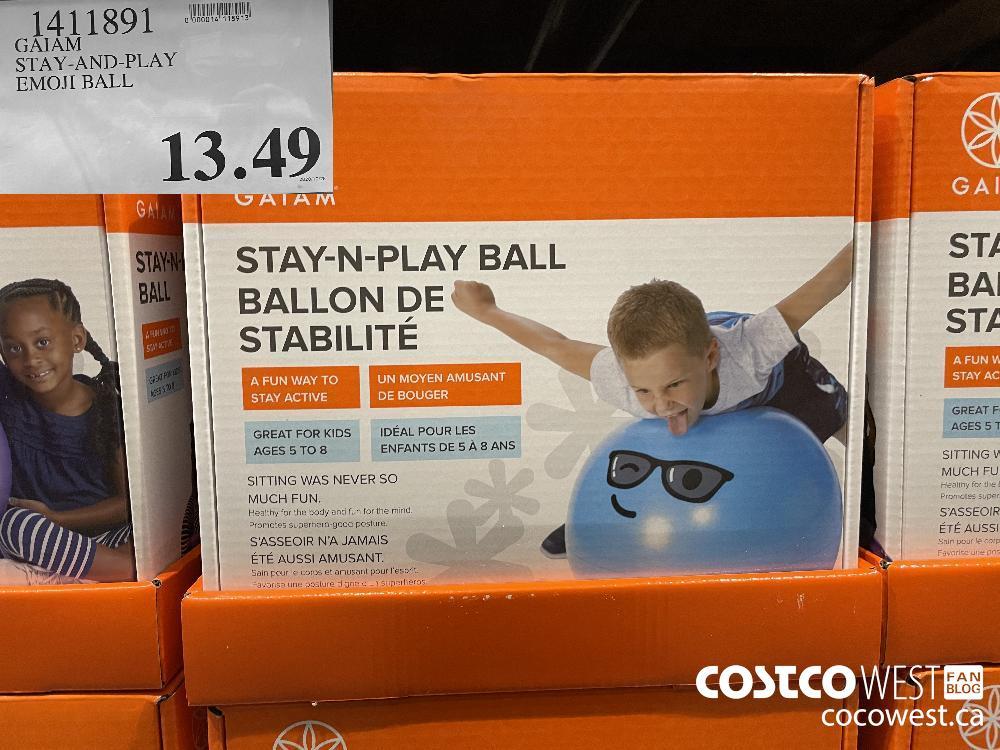4411891 GAIAM STAY-AND-PLAY EMOJI BALL $13.49
