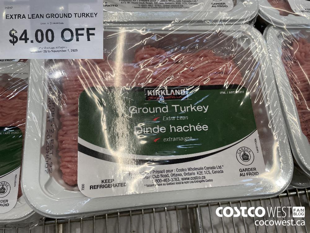 21317 EXTRA LEAN GROUND TURKEY Less In-Store Rebate $4.00 OFF Per Package at Register OcTober 26 to November 1 2020