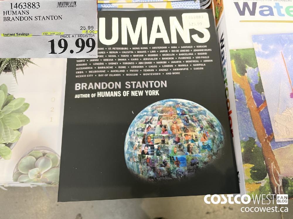 1463883 HUMANS BRANDON STANTON EXP. 2020-11-01 $19.99