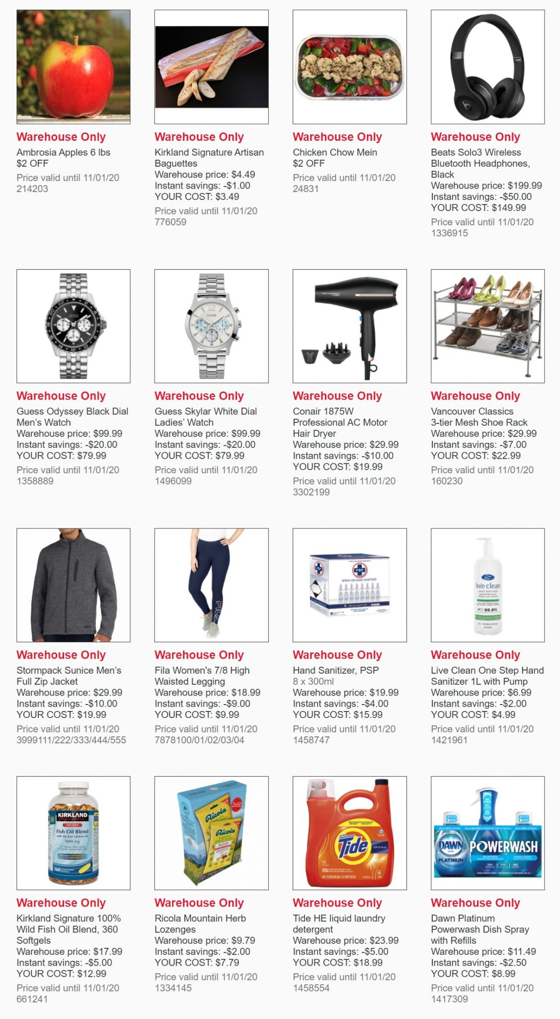 Weekend Update - Costco Sale Items for Jan 18-19, 2020 for