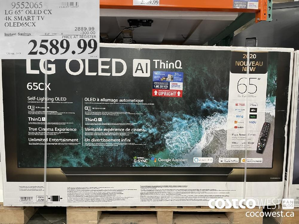 "9552065 LG 65"" OLED CX 4K SMART TV OLED65CX EXP. 2020-11-05 $2589.99"