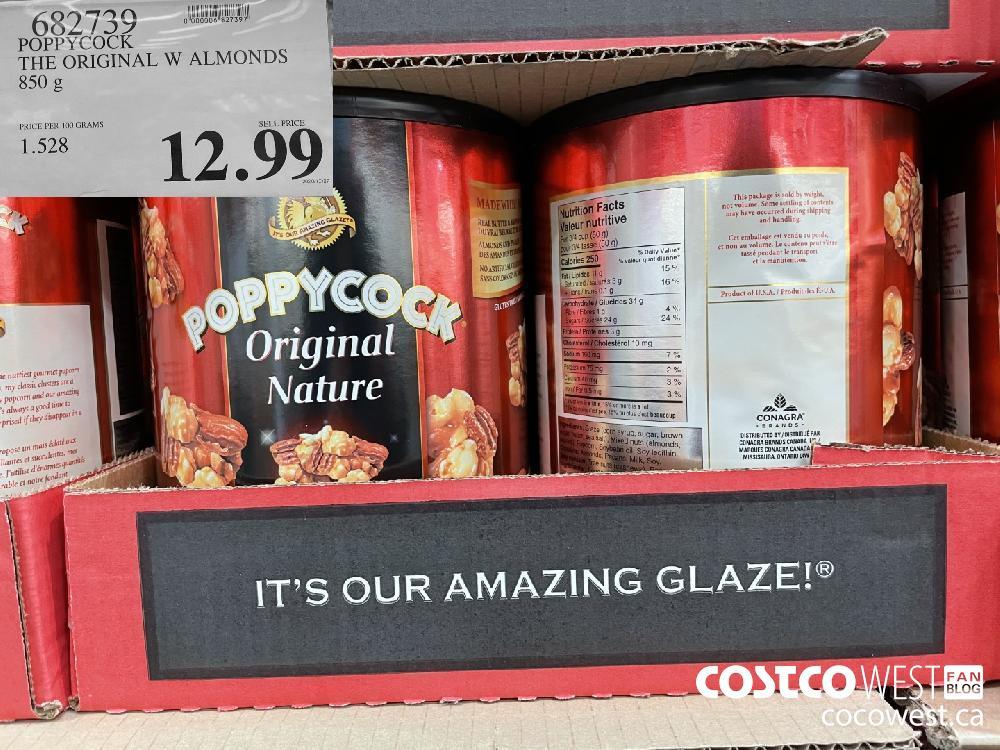 622739 POPPY COCK THE ORIGINAL W ALMONDS 850 g $12.99