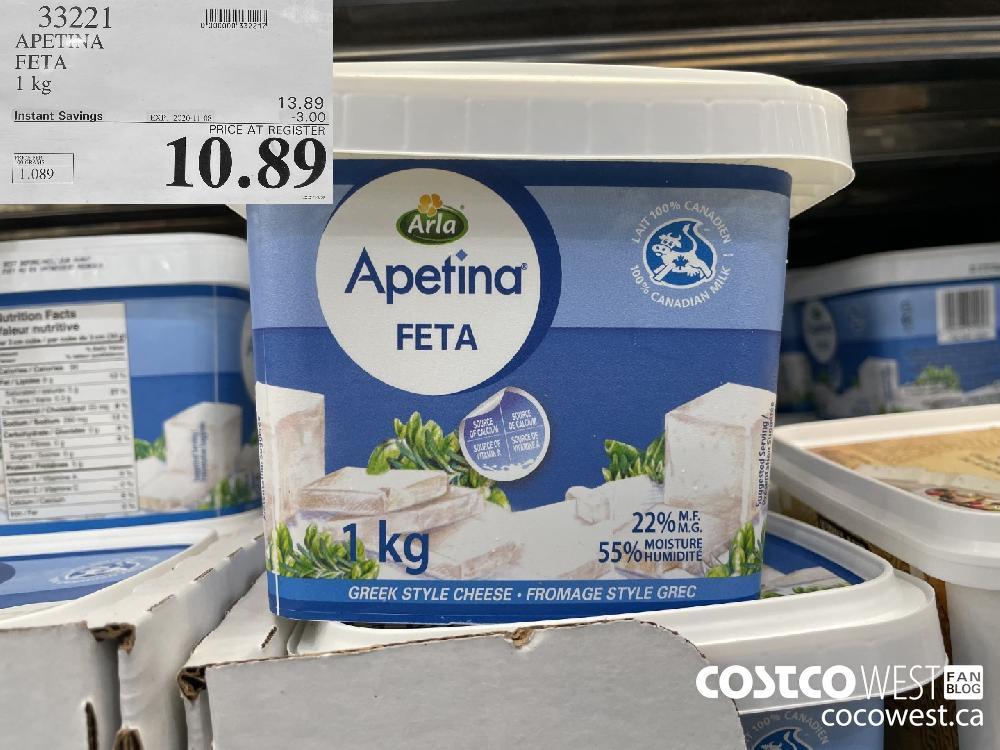 33221 APETINA FETA 1 kg EXP. 2020-11-08 $10.89