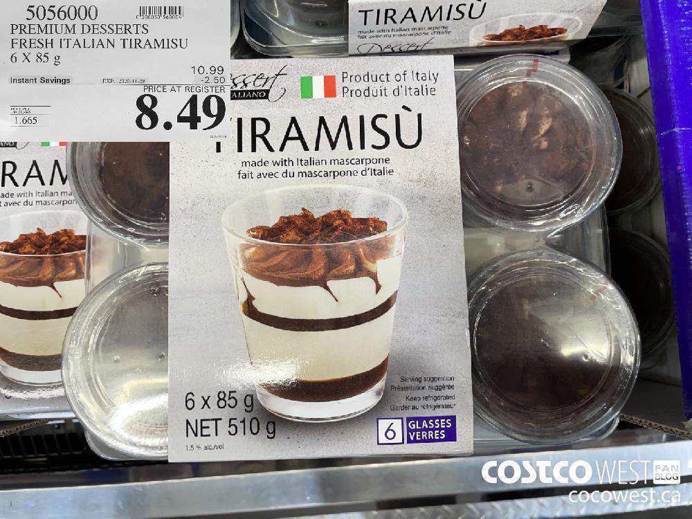 5056000 PREMIUM DESSERTS FRESH ITALIAN TIRAMISU 6 X 85 g EXP. 2020-11-08 $8.49