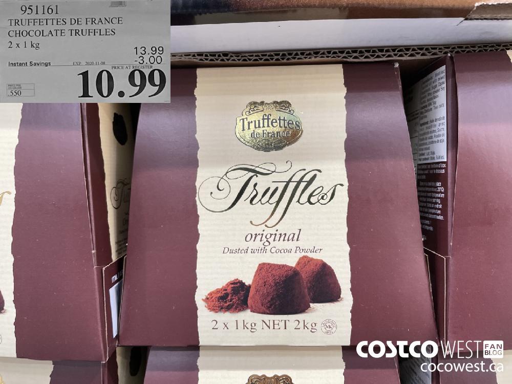 951161 TRUFFETTES DE FRANCE CHOCOLATE TRUFFLES 2 x 1kg EXP. 2020-11-08 $10.99