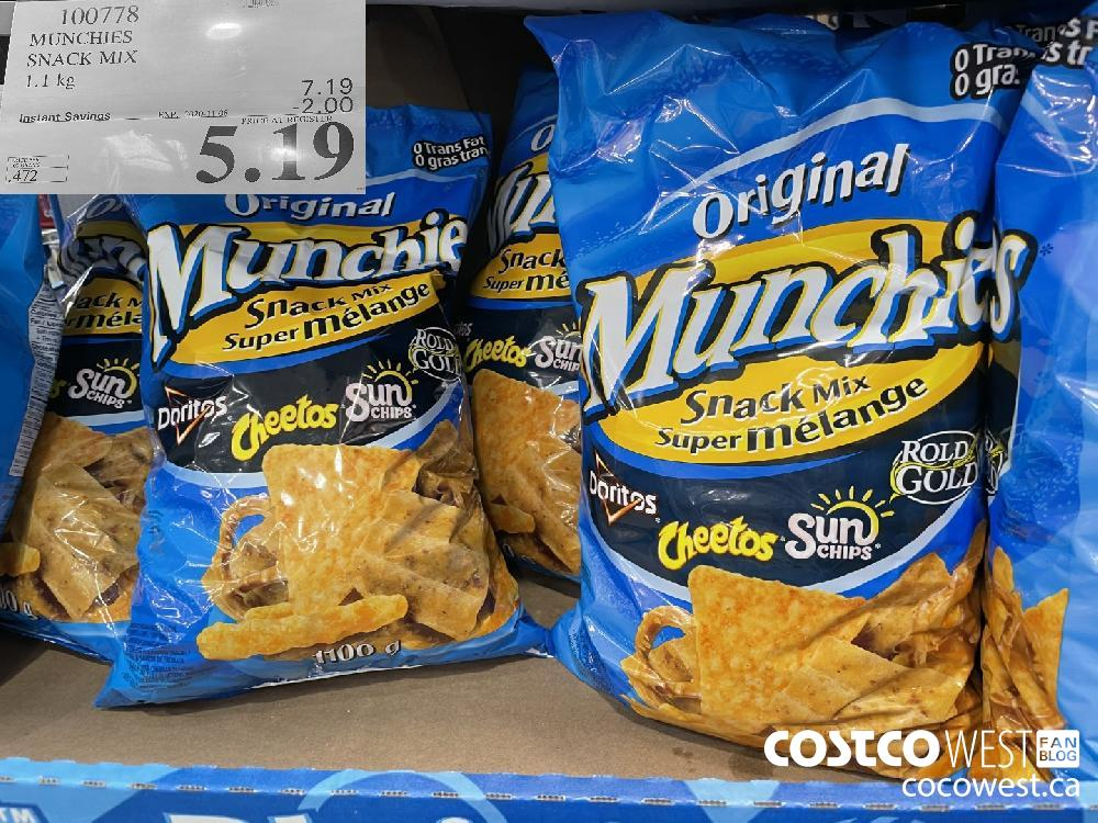 100778 MUNCHIES SNACK MIX 1.1 kg EXP. 2020-11-08 $5.19