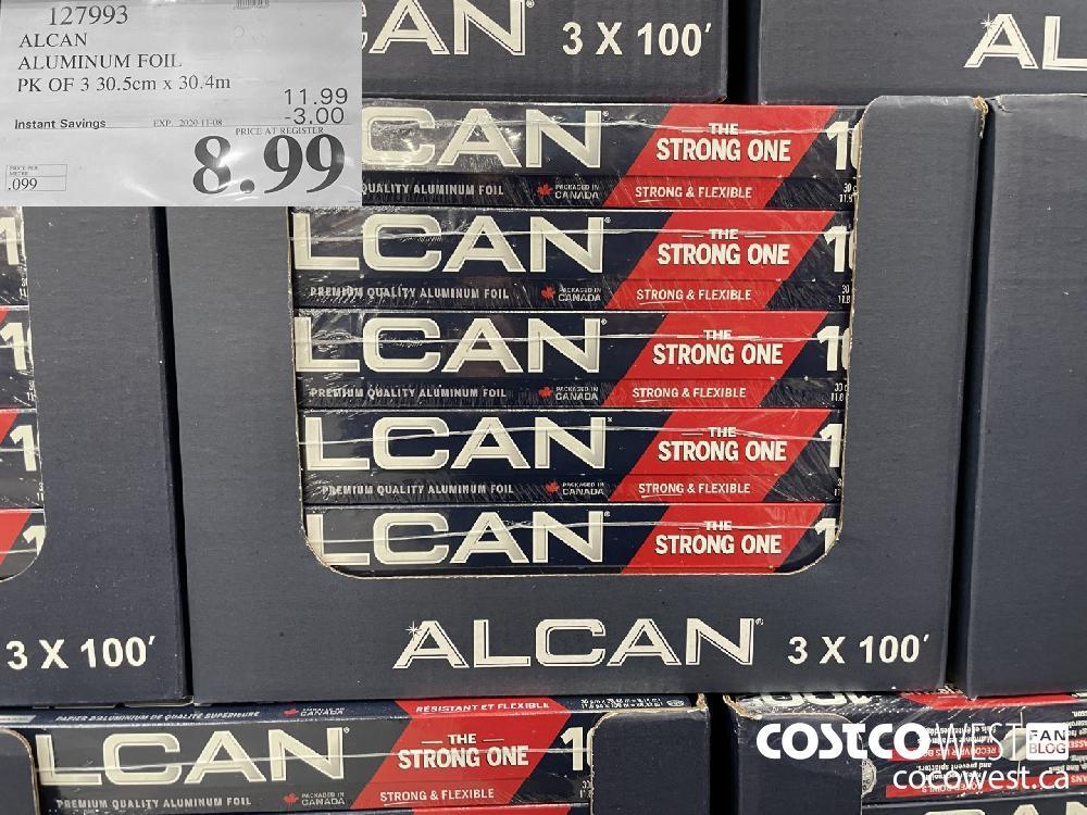 127993 ALCAN ALUMINUM FOIL PK OF 3 30.5cm x 30.4m EXP. 2020-11-08 $8.99