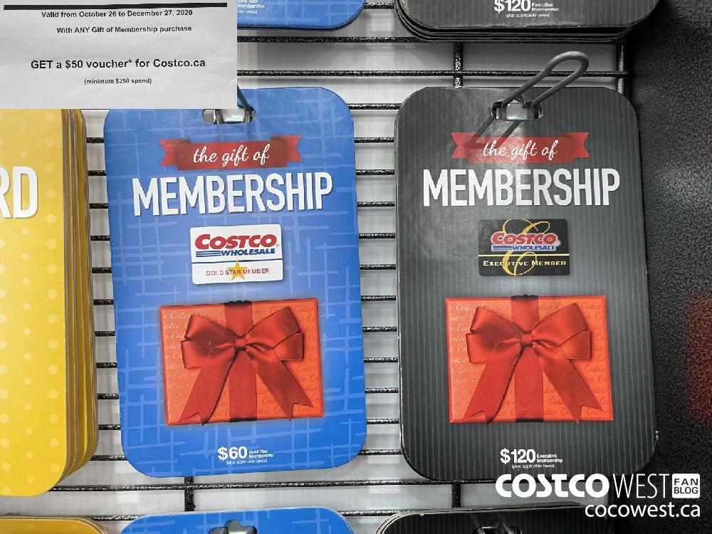GET a $50 voucher for Costco.ca Valid from October 26 to December 27 2020 With ANY Gift of Membership purchase GET a $50 voucher' for Costco.ca (minimum $250 spend)