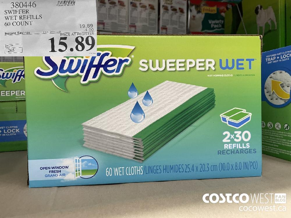380446 SWIFFER WET REFILLS 60 COUNT EXP. 2020-11-08 $15.89