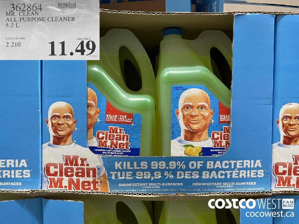 362864 MR. CLEAN ALL PURPOSE CLEANER 5.3 L $11.49