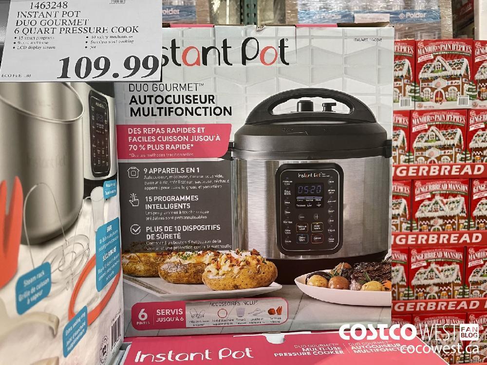 1463248 INSTANT POT DUO GOURMET 6 QUART PRESSURE COOK $109.99