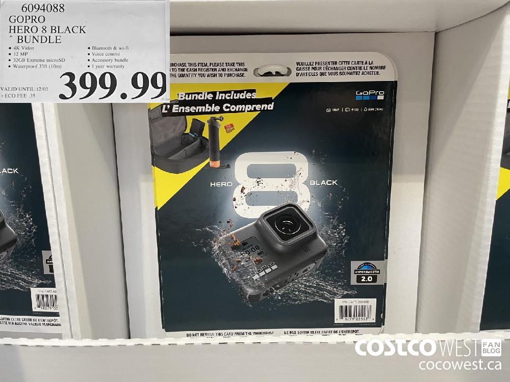 6094088 GOPRO HERO 8 BLACK BUNDLE $3.99