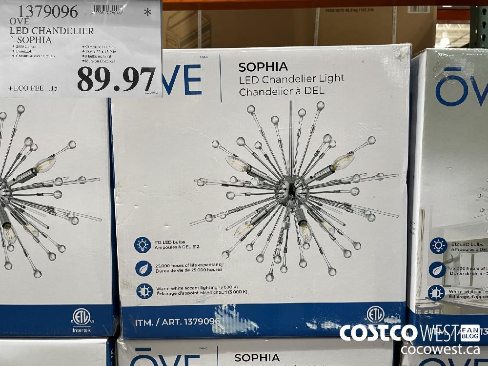 13790906 OVE LED CHANDELIER * SOPHIA $89.97