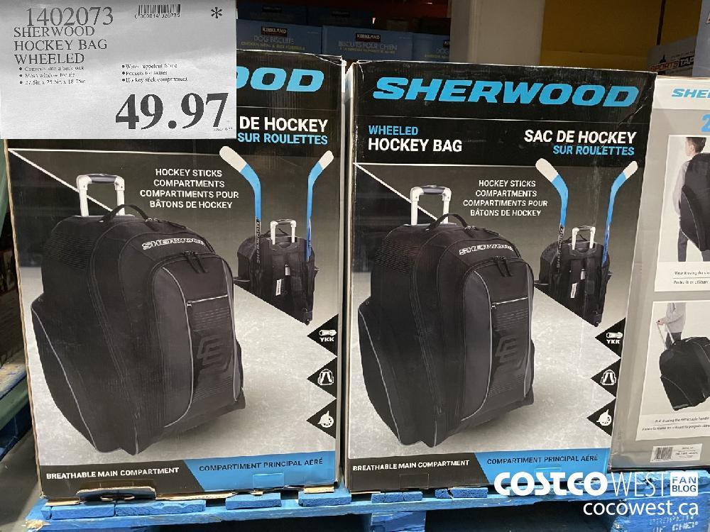 1402073 SHERWOOD HOCKEY BAG WHEELED $49.97
