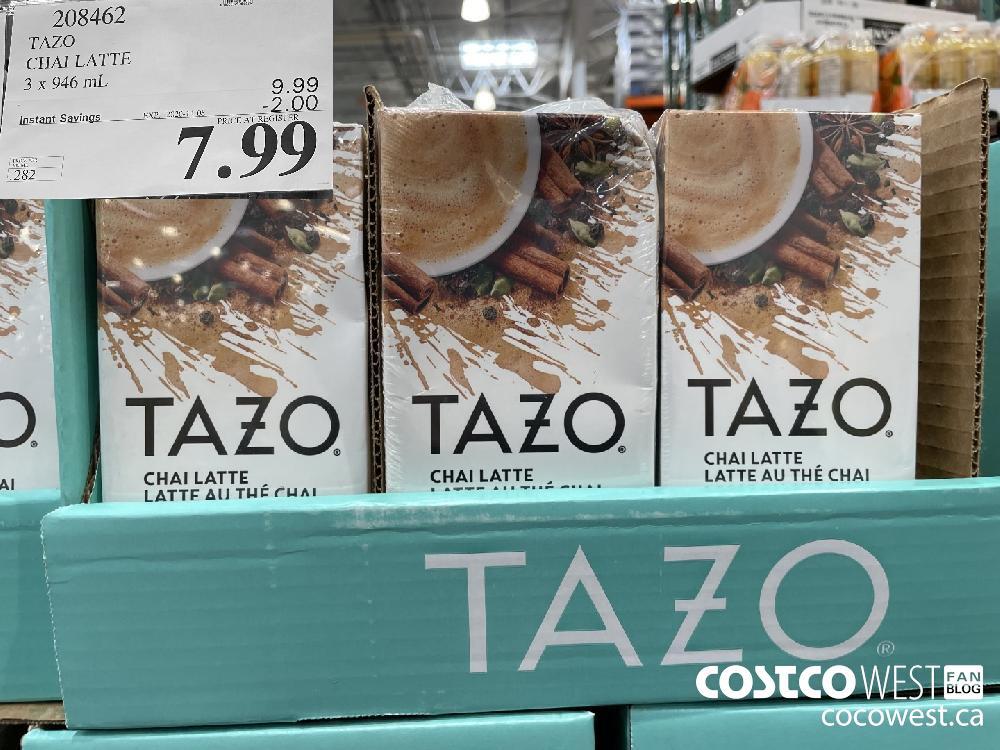 208462 TAZO CHAI LATTEE 3 x 946 mL EXP. 2020-11-08 $7.99
