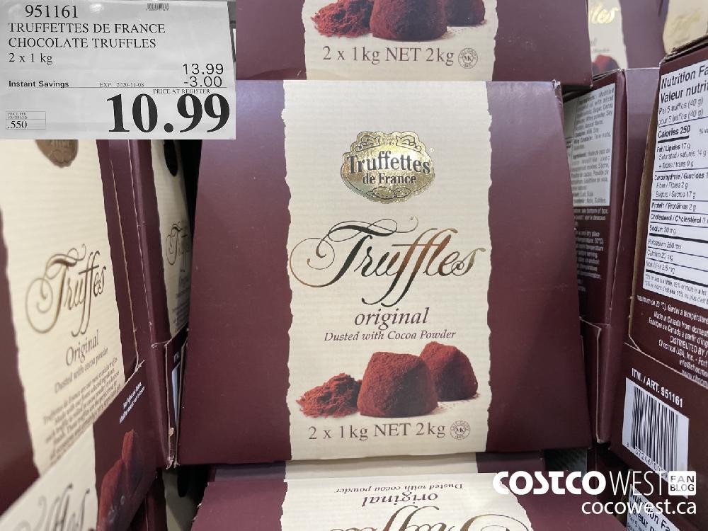 951161 TRUFFETTES DE FRANCE CHOCOLATE TRUFFLES 2 x 1 kg EXP. 2020-11-08 $10.99