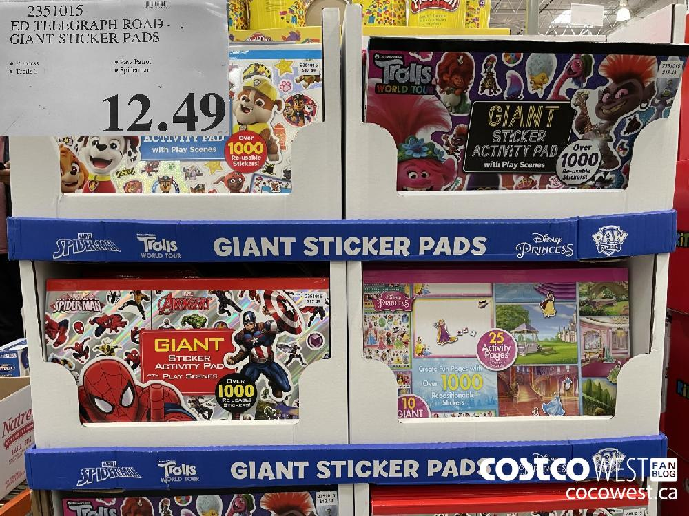 2351015 ED TELEGRAPH ROAD GIANT STICKER PADS $12.49