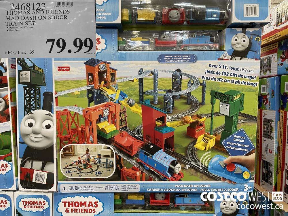 9468123 THOMAS AND FRIENDS MAD DASH ON SODOR TRAIN SET $79.99