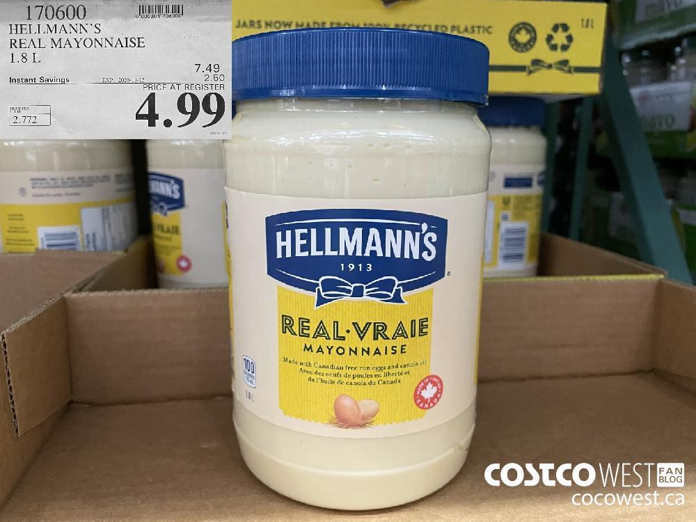 170600 HELLMANN'S REAL MAYONNAISE 1.8L EXP. 2020-11-15 $4.99