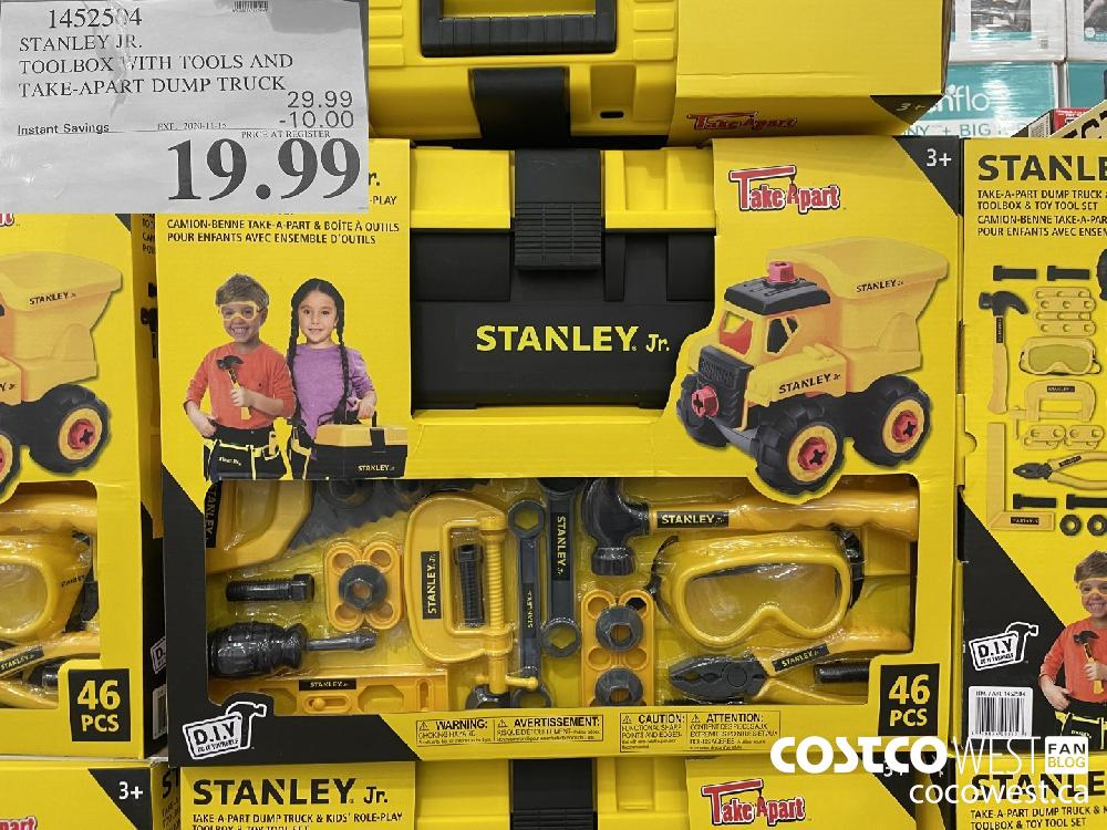 1452504 STANLEY JR. TOOLBOX WITH TOOLS AND TAKE-APART DUMP TRUCK EXP. 2020-11-15 $19.99