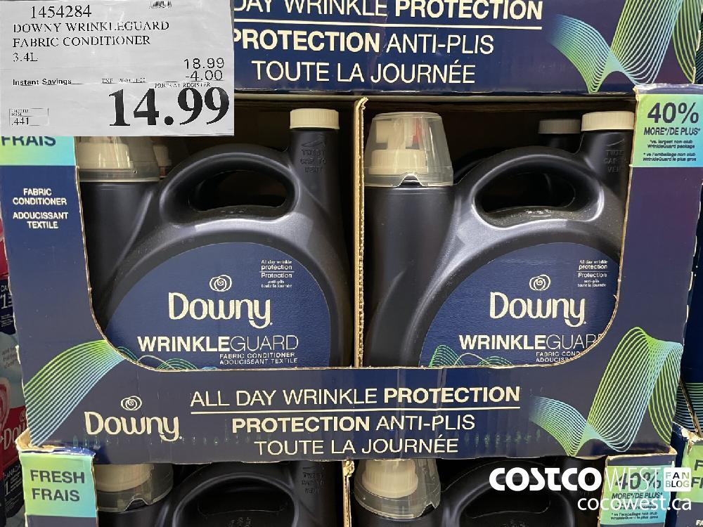 1454284 DOWNY WRINKLEGUARD FABRIC CONDITIONER 3.4L EXP. 2020-11-22 $14.99