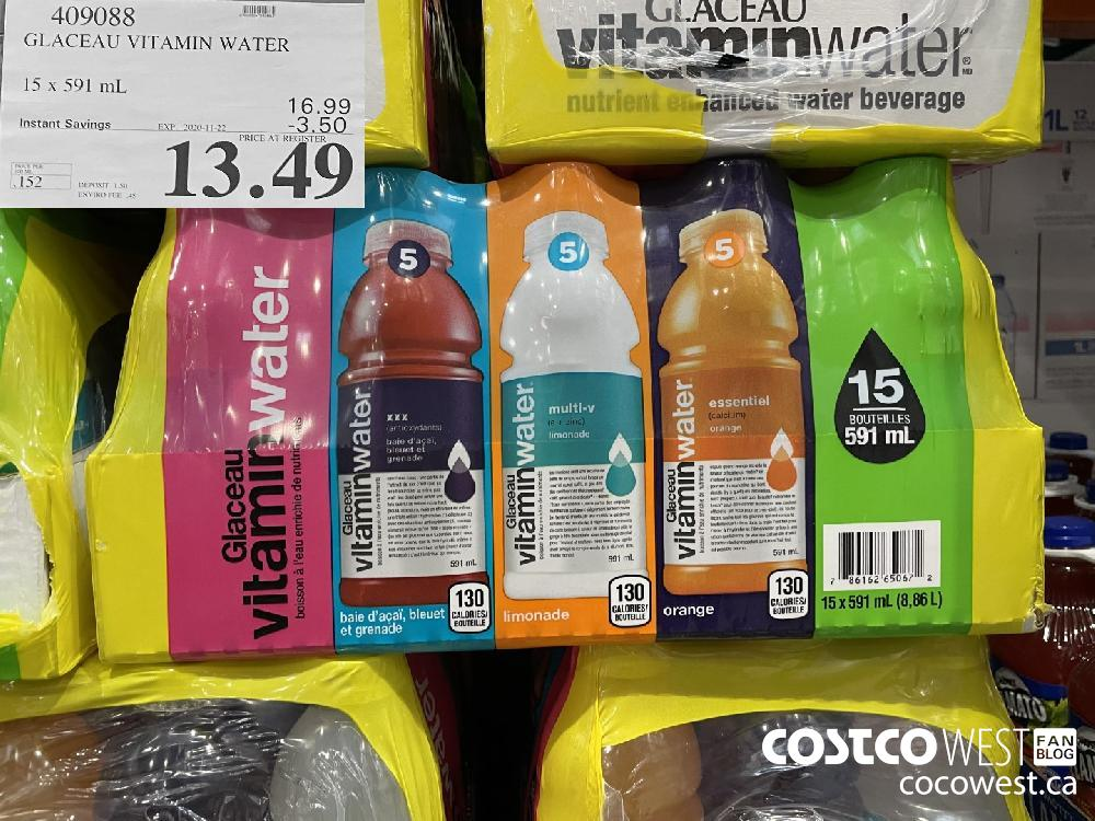 409088 GLACEAU VITAMIN WATER 15 x 591 mL EXP. 2020-11-22 $13.49