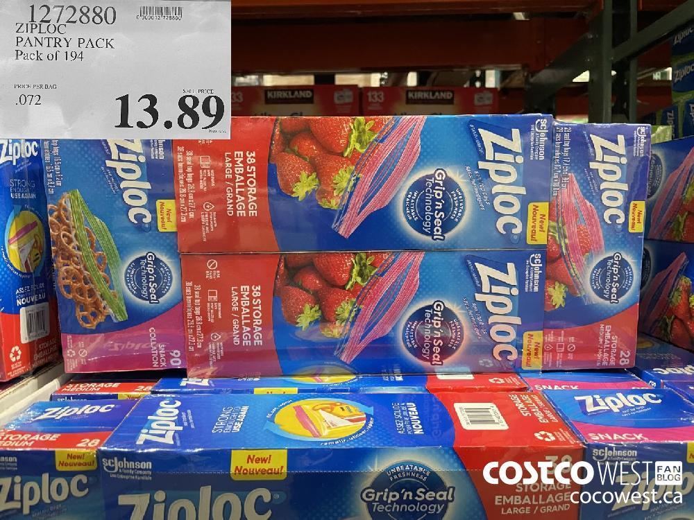 1272880 ZIPLOC PANTRY PACK Pack of 194 $13.89