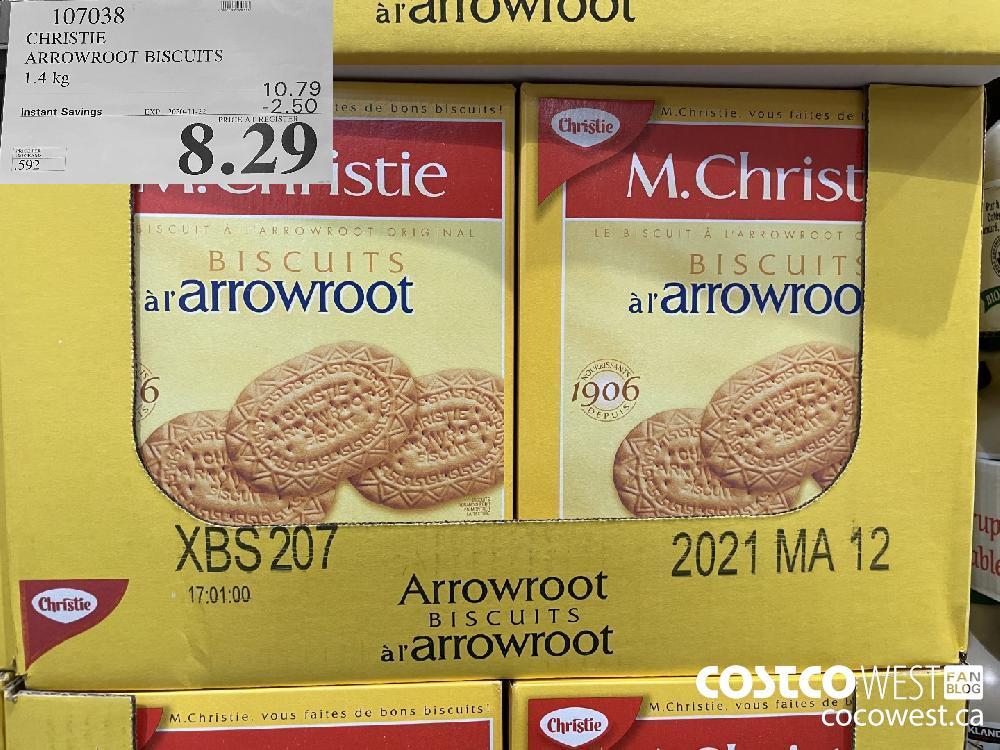 107038 CHRISTIE ARROWROOT BISCUITS 1.4 kg EXP. 2020-11-22 $8.29