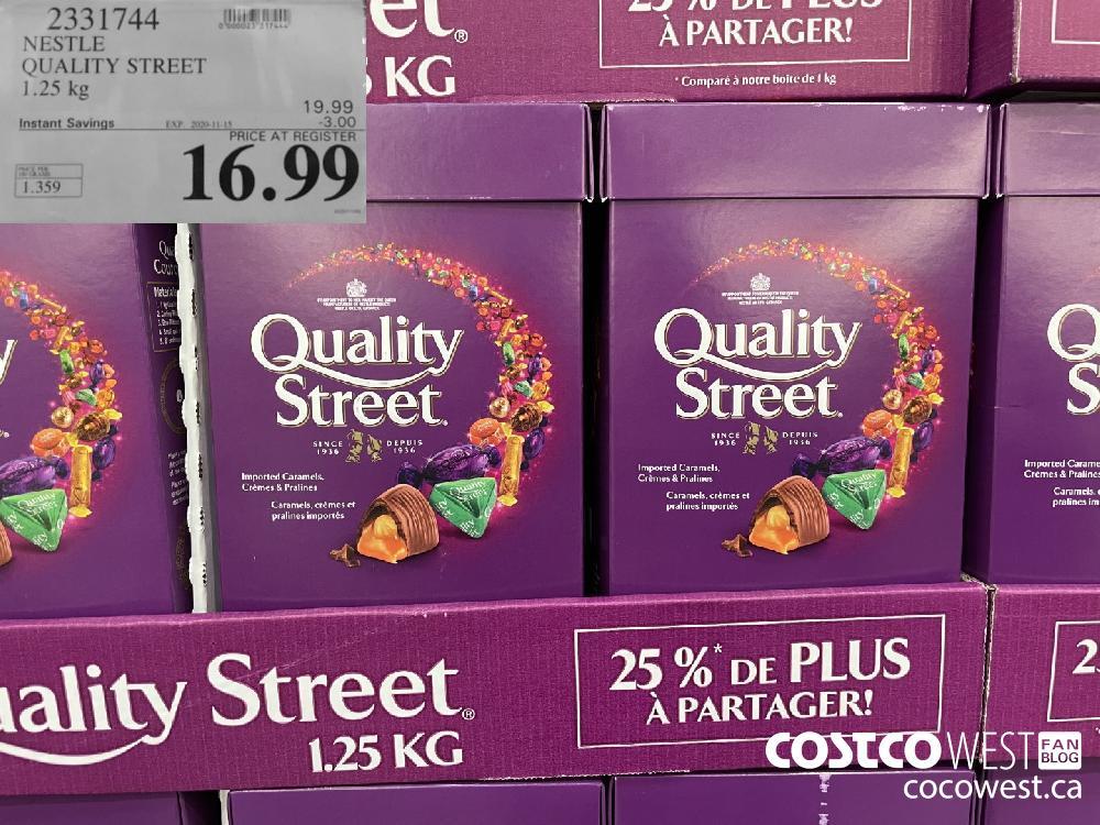 9331744 NESTLE QUALITY STREET 1.25 kg EXP. 2020-11-15 $16.99