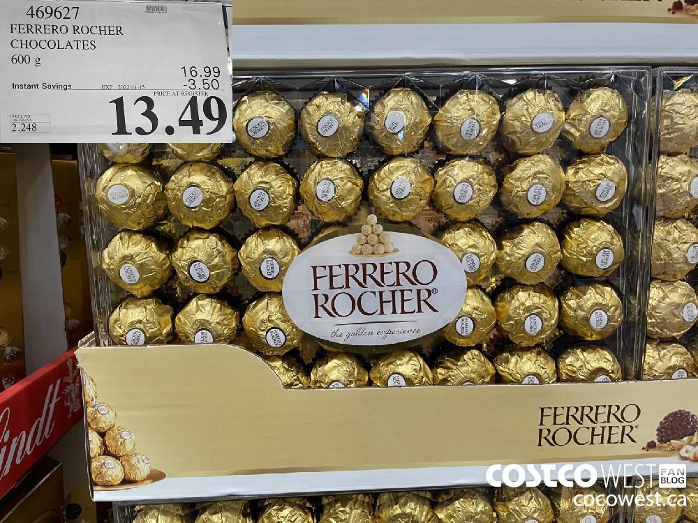 469627 FERRERO ROCHER CHOCOLATES 600 g EXP. 2020-11-15 $13.49