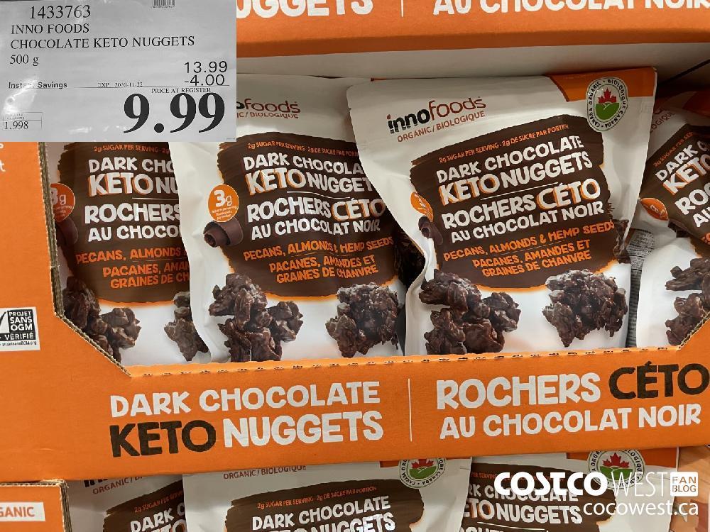 1433763 INNO FOODS CHOCOLATE KETO NUGGETS 500 g EXP. 2020-11-22 $9.99