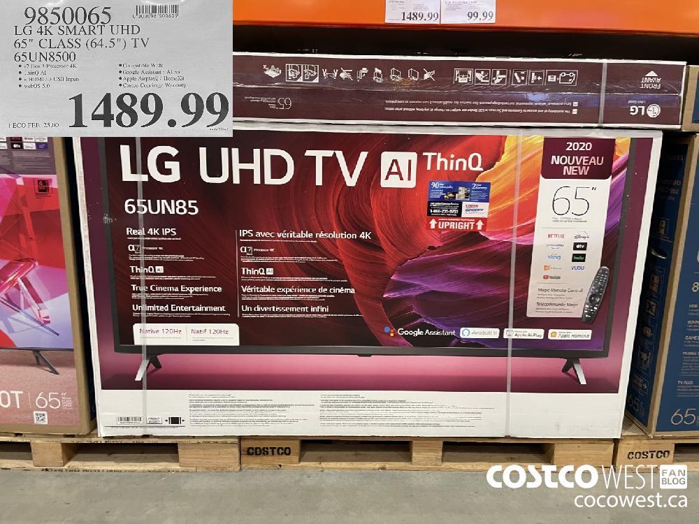 """9850065 LG 4K SMART UHD 65"""" CLASS (64.5"""") TV 65UN8500 $1489.99"""
