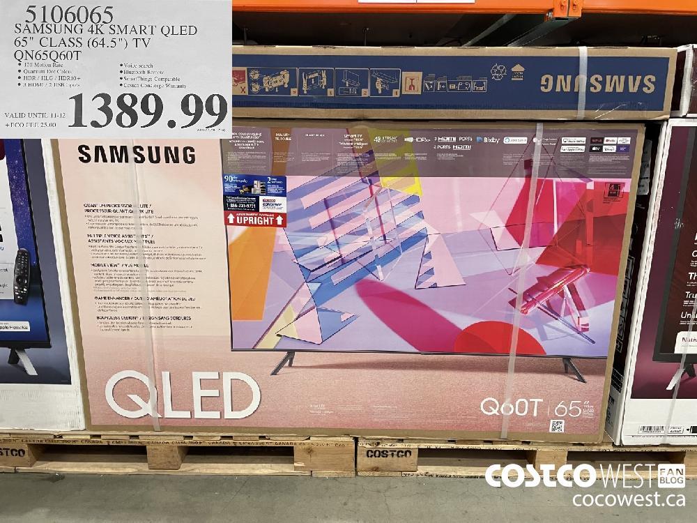"""106065 SAMSUNG 4K SMART OLED 65"""" CLASS (64.5"""") TV QN65Q60T $1389.99"""