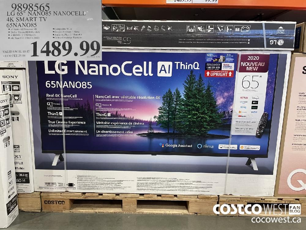 "9898565 LG 65"" NANO85 NANOCELL 4K SMART TV 65NANO85 $1489.99"