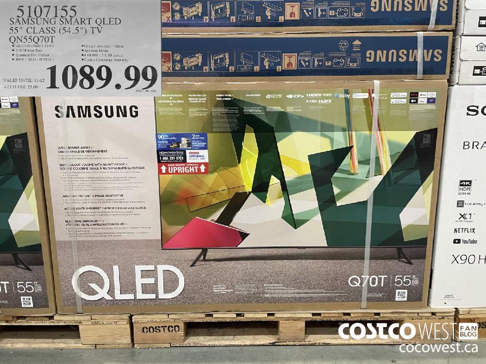 "51O7155 SAMSUNG SMART QLED 55"" CLASS (54.5"") TV QN55Q70T $1089.99"