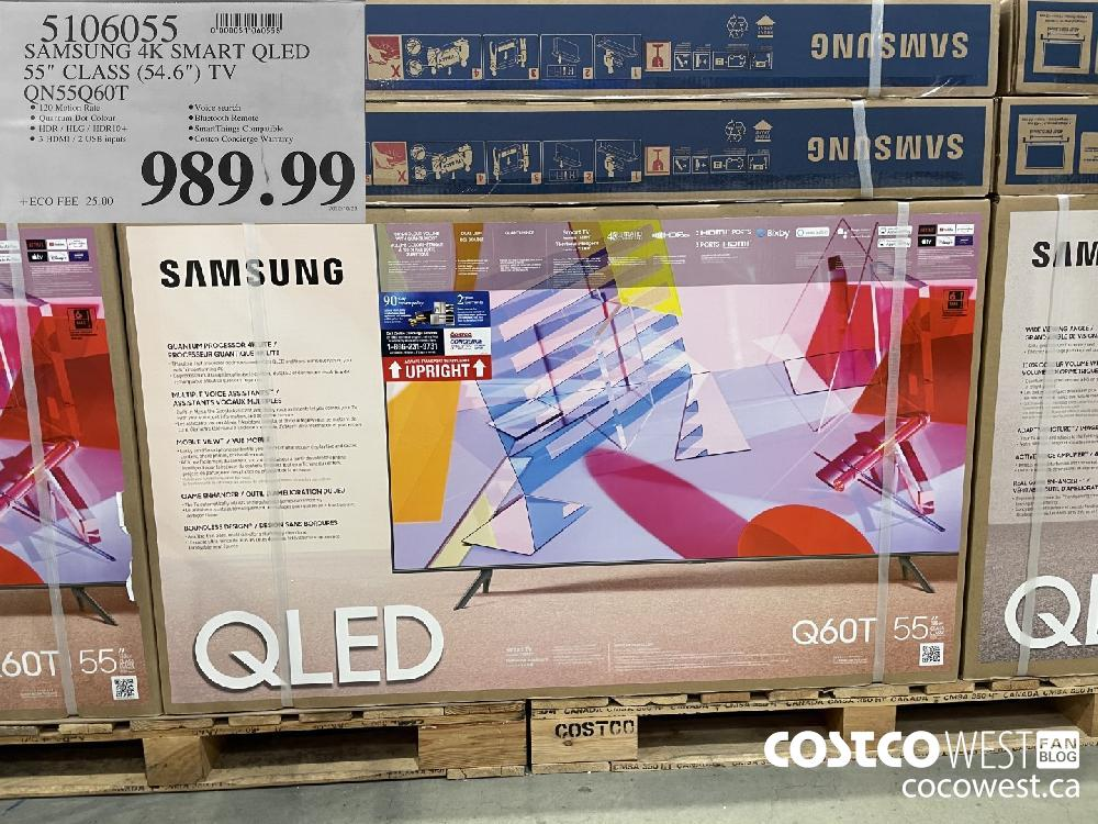 "5106055 SAMSUNG 4K SMART QLED 55"" CLASS (54.6"") TV QN55Q60T $989.99"