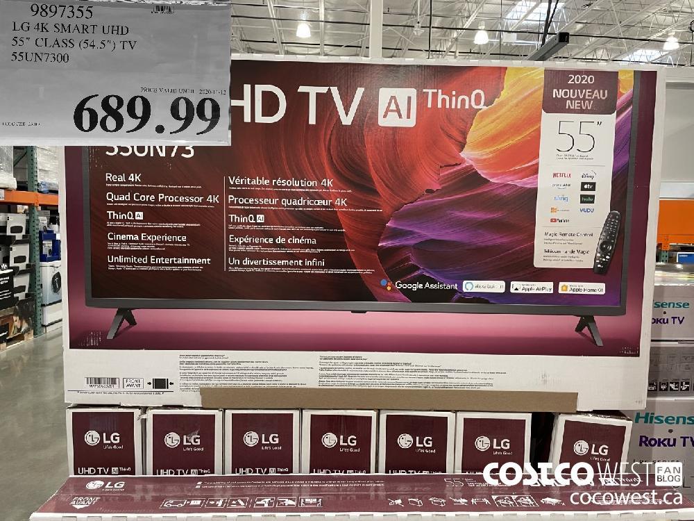 """9897355 LG 4K SMART UHD 35"""" CLASS (54.5"""") TV SS5UN7300 $689.99"""