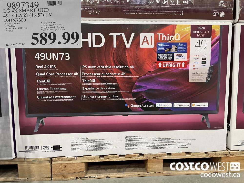 """9897349 LG 4K SMART UHD 49"""" CLASS (48.5"""") TV 49UN7300 $589.99"""
