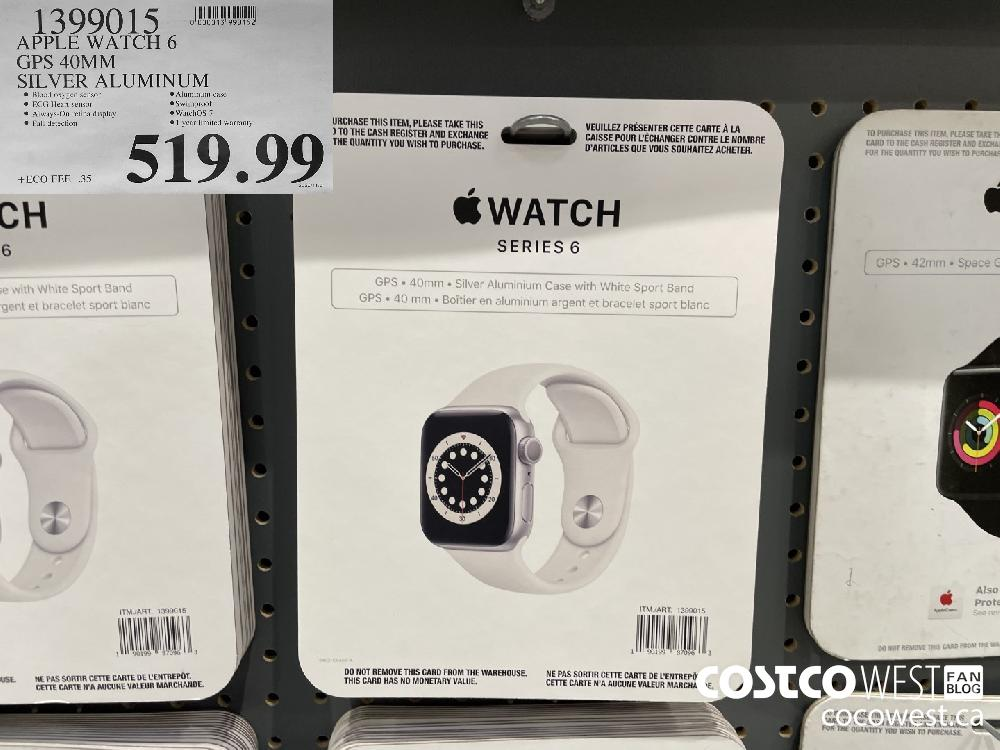 1399015 APPLE WATCH 6 GPS 40MM SILVER ALUMINUM $519.99