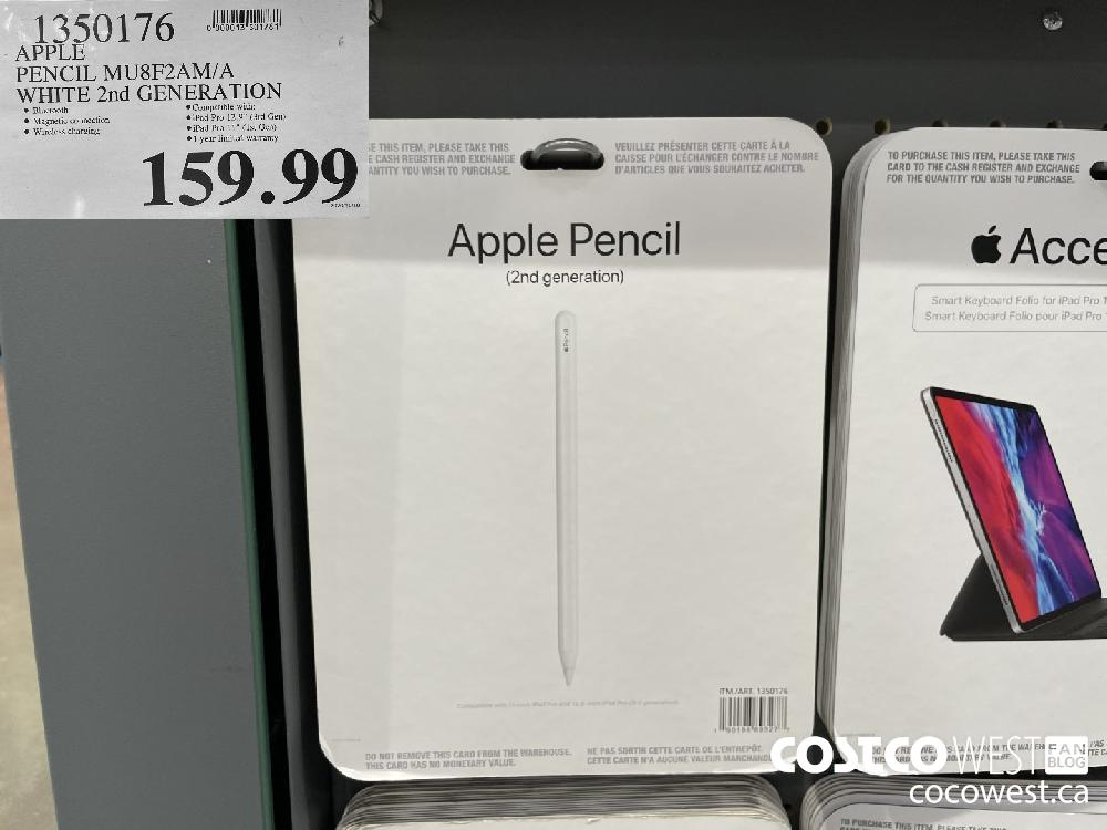 1350176 APPLE PENCIL MU8F2AM/A WHITE 2nd GENERATION $159.99