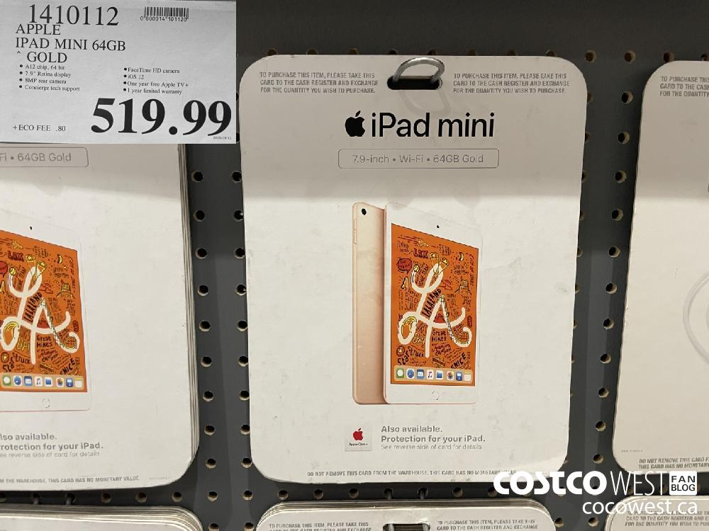 1410112 APPLE IPAD MINI 64GB GOLD $519.99