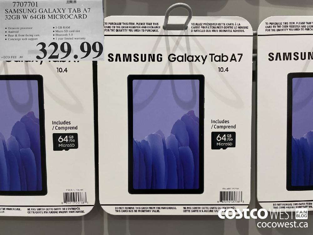 7707701 SAMSUNG GALAXY TAB A7 | 32GB W 64GB MICROCARD $329.99